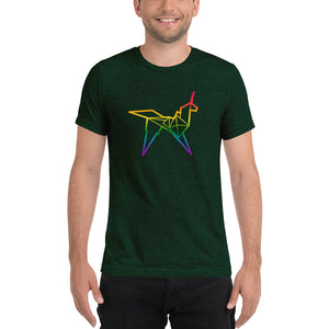 Origami unicorn color men's t-shirt - VARANDA DESIGN