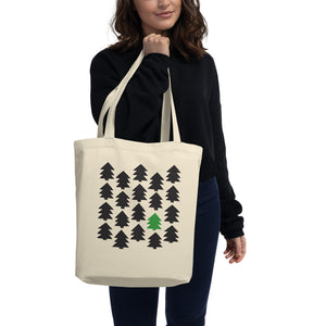 Indie pine tree art in an organic cotton tote bag printed in one side with eco-friendly inks - available on varanda.store