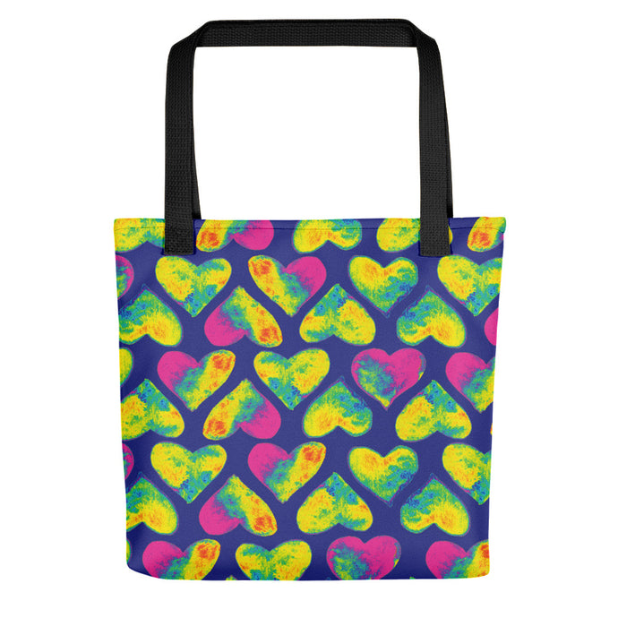 Pop hearts tote bag by Varanda Design - front