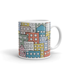 People's wishes in the city mug 11oz by Varanda Design