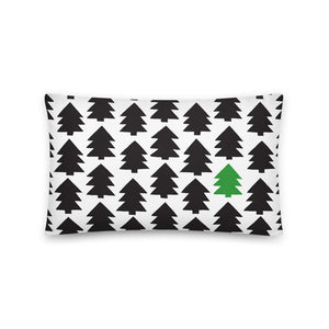 Christmas pine tree art by Varanda Design on a 20x12 (In) pillow - available on varanda.store website