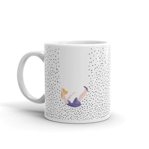Falling lady mug by Varanda Design