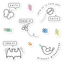 Load image into Gallery viewer, Pollinators message stickers - VARANDA DESIGN