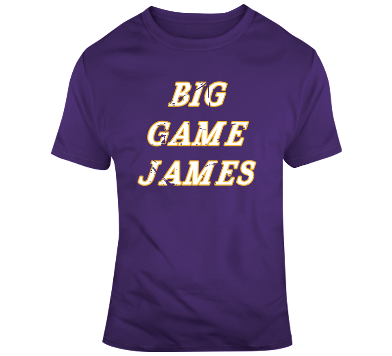 quality design f5a9f c0ee2 Big Game James James Worthy Distressed La Basketball Fan T Shirt
