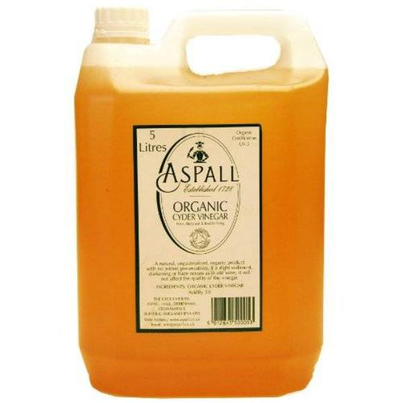 Mintons Good Food ASPALL VINEGAR Organic Cyder Vinegar              Size - 1x5  Lt