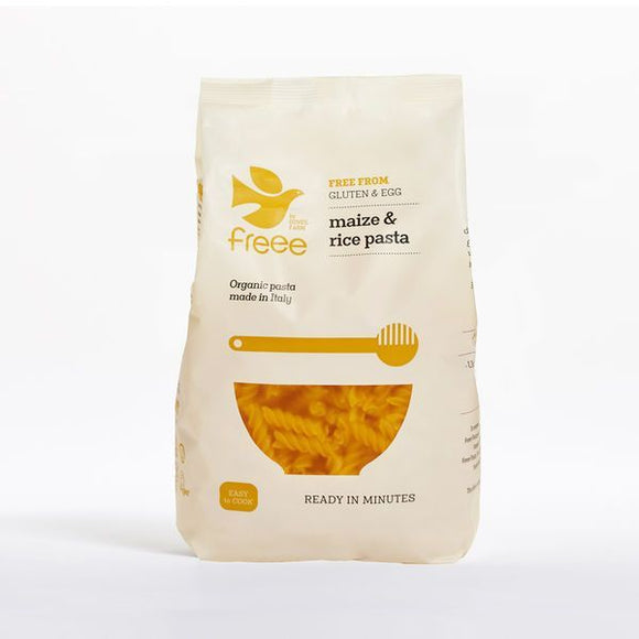 Mintons Good Food DOVES PASTA G/F Maize & Rice Fusilli           Size - 8x500g