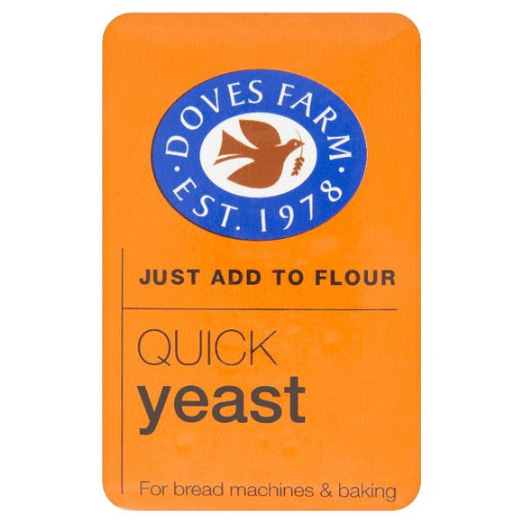 DOVES INGREDIENTS Quick Yeast Gmo Free/Vegan         Size - 8x125g