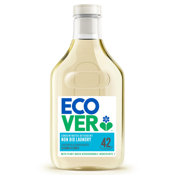 ECOVER LAUNDRY Laundry Liquid (Non Bio)           Size - 6x1.5Lt - Mintons Good Food | Food Wholesaler & Contract Packaging | Pre Pack & Healthfoods | Wales