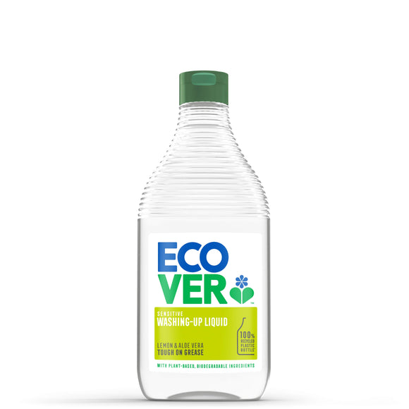 ECOVER DISHWASHING Washing Up Liquid Lemon & Aloe     Size - 8x450ml - Mintons Good Food | Food Wholesaler & Contract Packaging | Pre Pack & Healthfoods | Wales