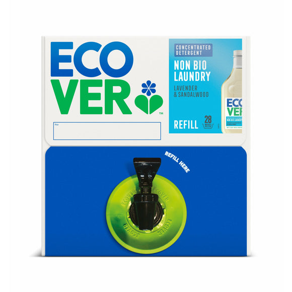 ECOVER REFILLS, Mintons Good Food, ECOVER REFILLS D/S Non Bio Laundry Liquid Bag Box Size - 1x15Lt,