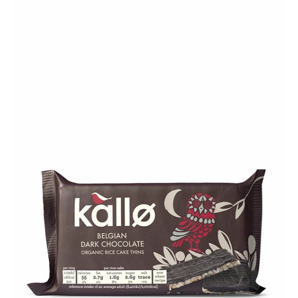 Mintons Good Food KALLO Org Dark Chocolate Rice Cakes      Size - 16x 90g