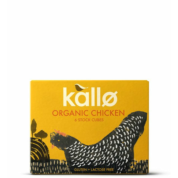 Mintons Good Food KALLO Org Chicken Stock Cubes            Size - 15x6x11g