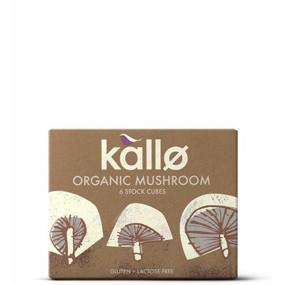 KALLO Org Mushroom Stock Cubes           Size - 15x6x11g - Mintons Good Food | Food Wholesaler & Contract Packaging | Pre Pack & Healthfoods | Wales