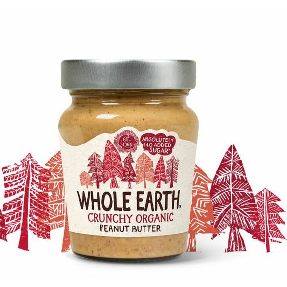 WHOLE EARTH Org Crunchy Peanut Butter          Size - 6x227g