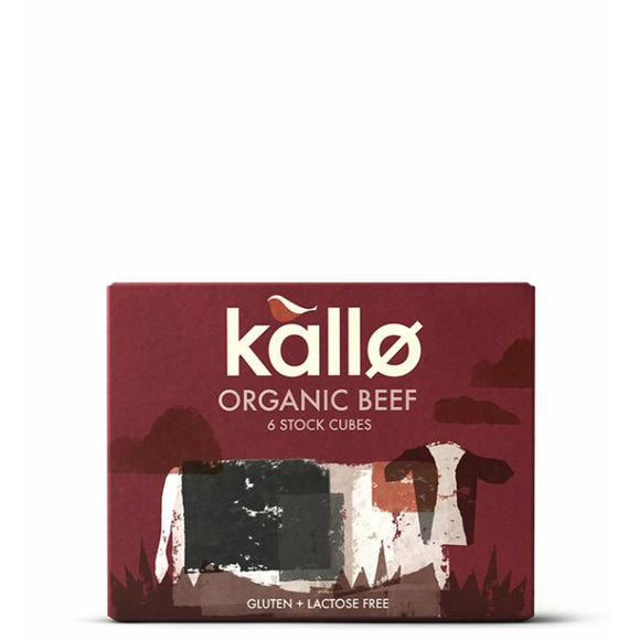 KALLO, Mintons Good Food, KALLO Organic Beef Stock Cubes           Size - 15x66g,