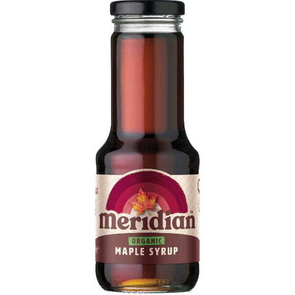 MERIDIAN SYRUPS Organic Maple Syrup                Size - 6x330ml - Mintons Good Food | Food Wholesaler & Contract Packaging | Pre Pack & Healthfoods | Wales