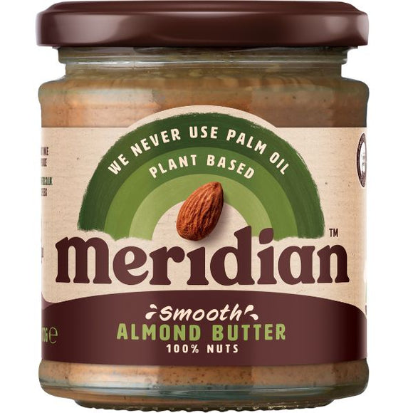 Mintons Good Food MERIDIAN NUT BUTTERS Almond Smooth Butter 100%       4. Quantity : Size - 6x170g