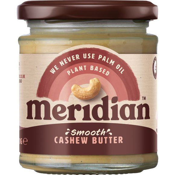 MERIDIAN NUT BUTTERS Cashew Butter Smooth             4 Size - 6x170g - Mintons Good Food | Food Wholesaler & Contract Packaging | Pre Pack & Healthfoods | Wales