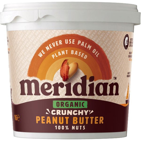 Mintons Good Food MERIDIAN NUT BUTTERS Org P/Nut Butter Crunchy No Salt T Size - 6x1 Kg