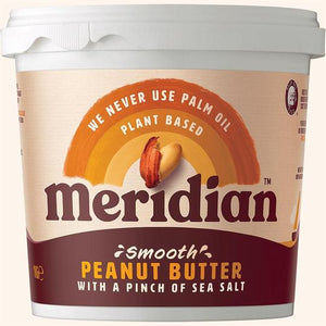 Mintons Good Food MERIDIAN NUT BUTTERS Peanut Butter Smooth With Salt Tub Size - 6x1 Kg