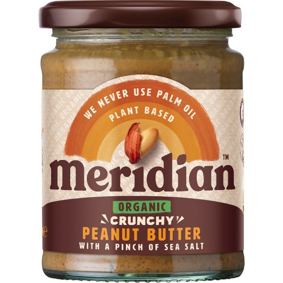 MERIDIAN NUT BUTTERS Org Peanut Butter Crunchy With Sal Size - 6x280g - Mintons Good Food | Food Wholesaler & Contract Packaging | Pre Pack & Healthfoods | Wales