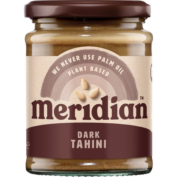 MERIDIAN TAHINIS Natural Dark Tahini                Size - 6x270g - Mintons Good Food | Food Wholesaler & Contract Packaging | Pre Pack & Healthfoods | Wales