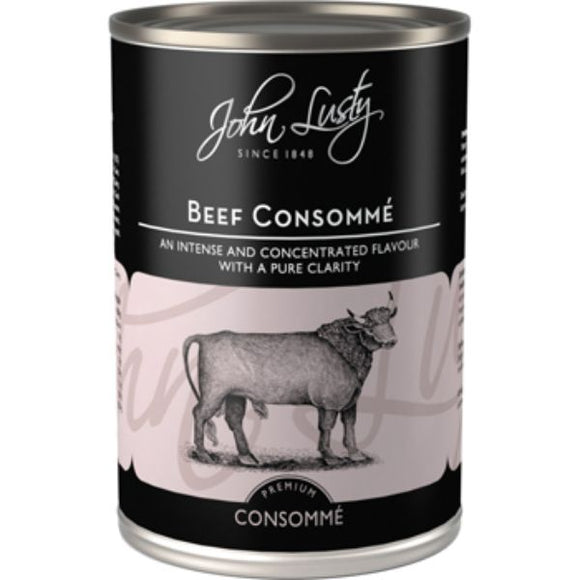 JOHN LUSTY Beef Consomme                      Size - 12x392g