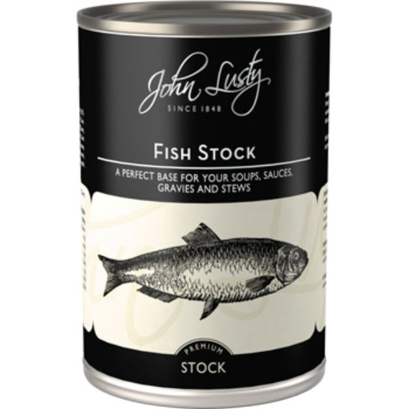 Mintons Good Food JOHN LUSTY Fish Stock                         Size - 12x392g