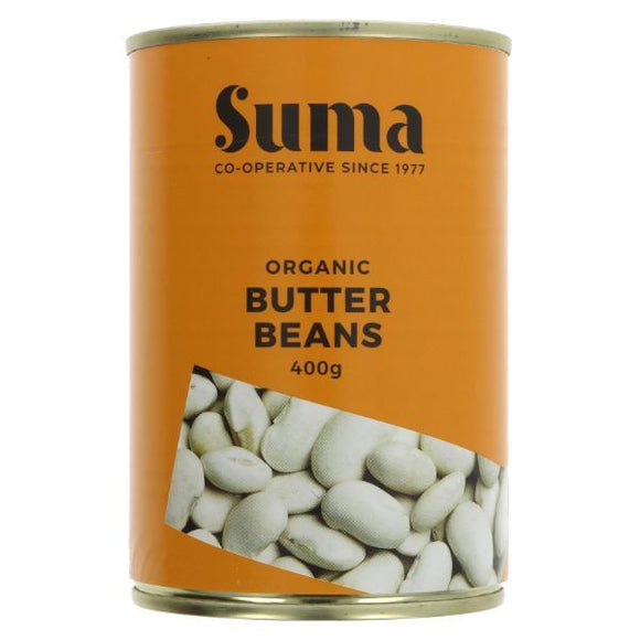 DOVES FLOUR, Mintons Good Food, SUMA Organic Butter Beans               Size - 12x400g,