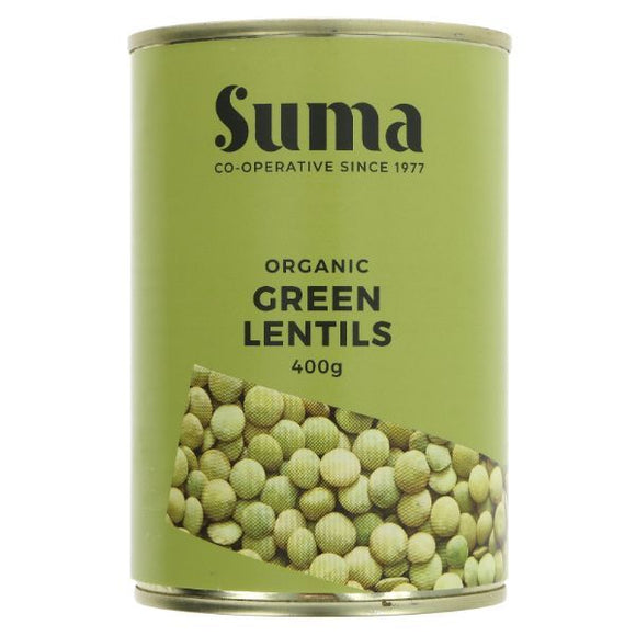 DOVES FLOUR, Mintons Good Food, SUMA Organic Green Lentils              Size - 12x400g,