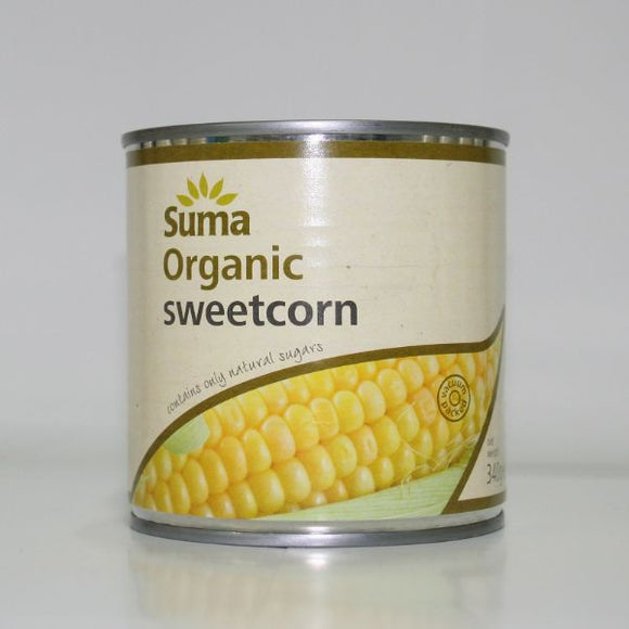DOVES FLOUR, Mintons Good Food, SUMA Organic Sweetcorn                  Size - 12x340g,