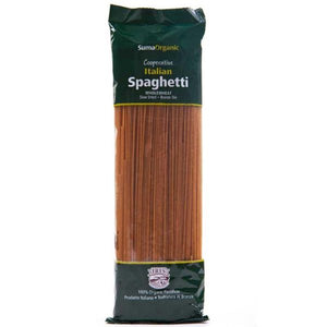 DOVES INGREDIENTS, Mintons Good Food, SUMA Organic Wholewheat Spaghetti       Size - 12x500g,