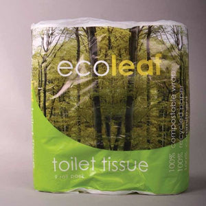 Mintons Good Food ECOLEAF Ecosoft Toilet Tissue              Size - 5x9 ROLLS