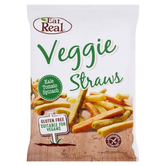 EAT REAL, Mintons Good Food, EAT REAL Veggie & Kale Straws Sharing Pack  Size - 10x113g,