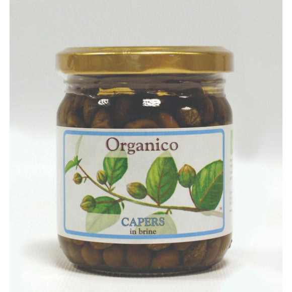 Mintons Good Food ORGANICO Org Capers In Brine                Size - 12x250