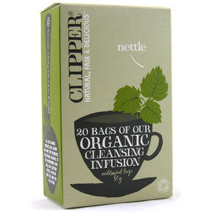 Mintons Good Food CLIPPER INFUSION Organic Nettle Tea Bags            Size - 6x20bags