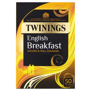 Mintons Good Food TWININGS CLASSICS English Breakfast Tea Bags         Size - 4x 50bags