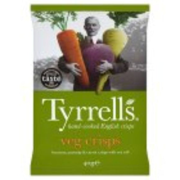 Mintons Good Food TYRRELLS CRISPS Mixed Root Crisps                  Size - 24x40g
