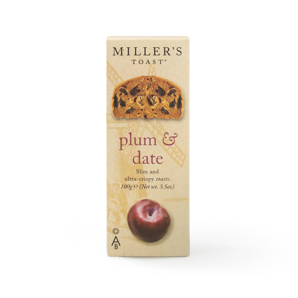 AMISA, Mintons Good Food, ARTISAN BISCUITS Plum & Date Toast                  Size - 6x100g,