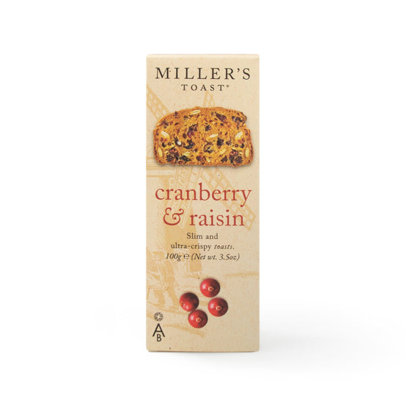 Mintons Good Food ARTISANBISCUITS Cranberry & Raisin Toast           Size - 6x100g