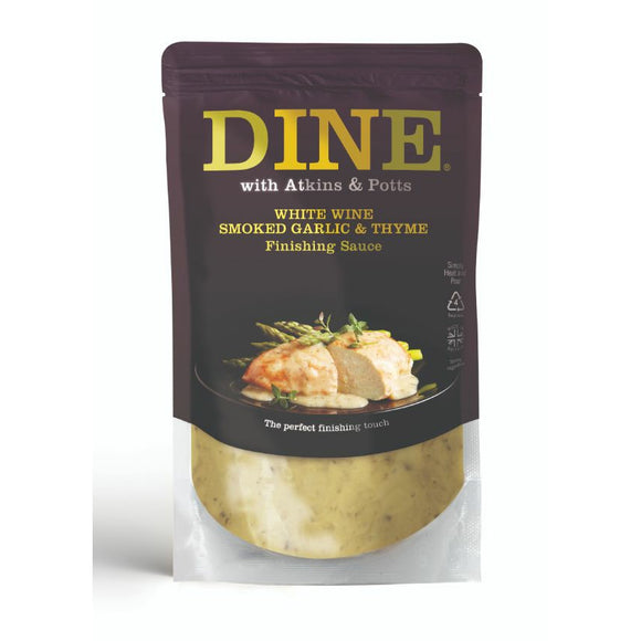 Mintons Good Food ATKINS & POTTS White Wine, Garlic & Thyme Sauce   Size - 6x350g