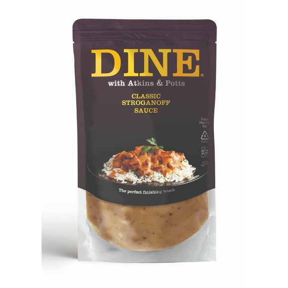 Mintons Good Food ATKINS & POTTS Stroganoff Sauce                   Size - 6x350g