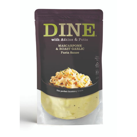 ARTISAN GRAINS, Mintons Good Food, ATKINS & POTTS Mascarpone & Roasted Garlic Sauce  Size - 6x350g,