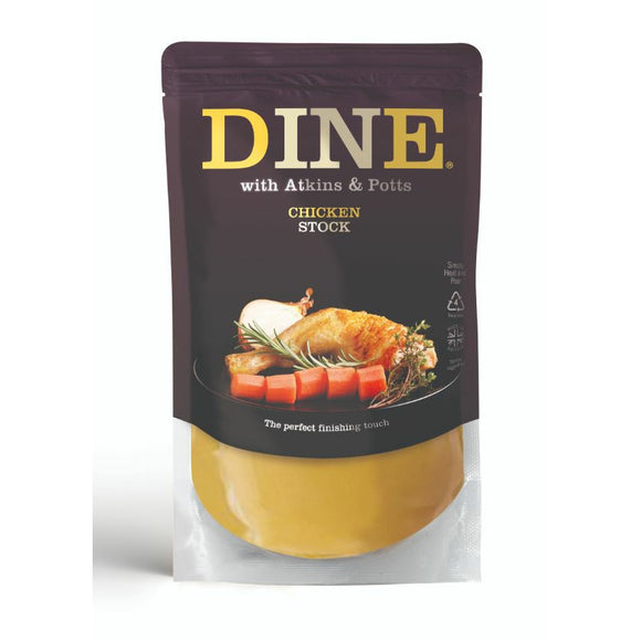 Mintons Good Food ATKINS & POTTS Chicken Stock                      Size - 6x350g