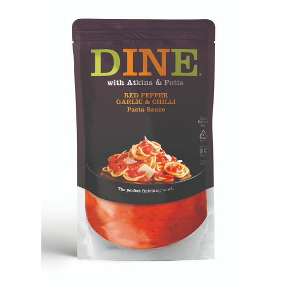 ATKINS & POTTS, Mintons Good Food, ATKINS & POTTS Pepper, Garlic & Chilli Pasta Sauc Size - 6x350g,