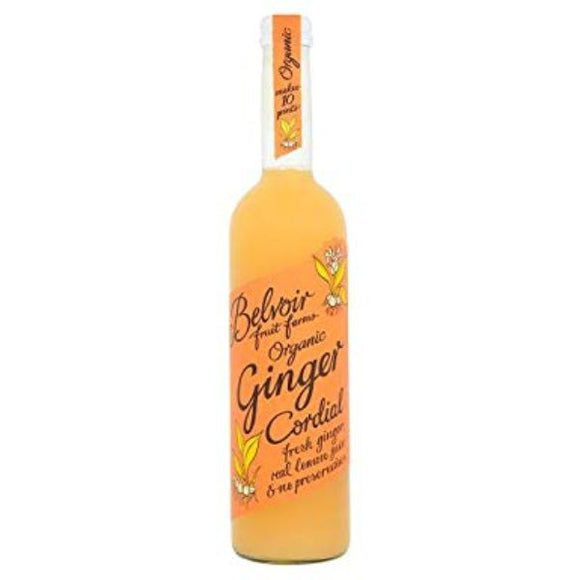 Mintons Good Food BELVOIR ORGANICS Organic Ginger Cordial             Size - 6x50cl