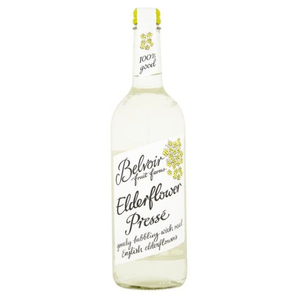 Mintons Good Food BELVOIR ORGANICS Organic Elderflower Presse         Size - 6x75cl