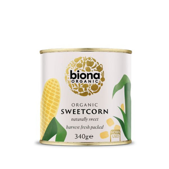 Mintons Good Food BIONA Organic Sweetcorn                  Size - 6x340g