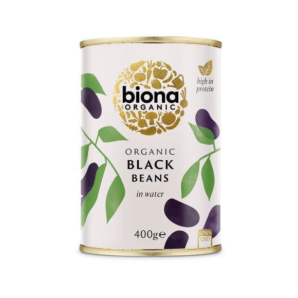 Mintons Good Food BIONA Organic Black Beans                Size - 6x400g