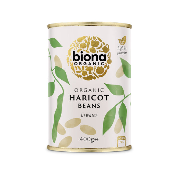 Mintons Good Food BIONA Organic Haricot Beans              Size - 6x400g